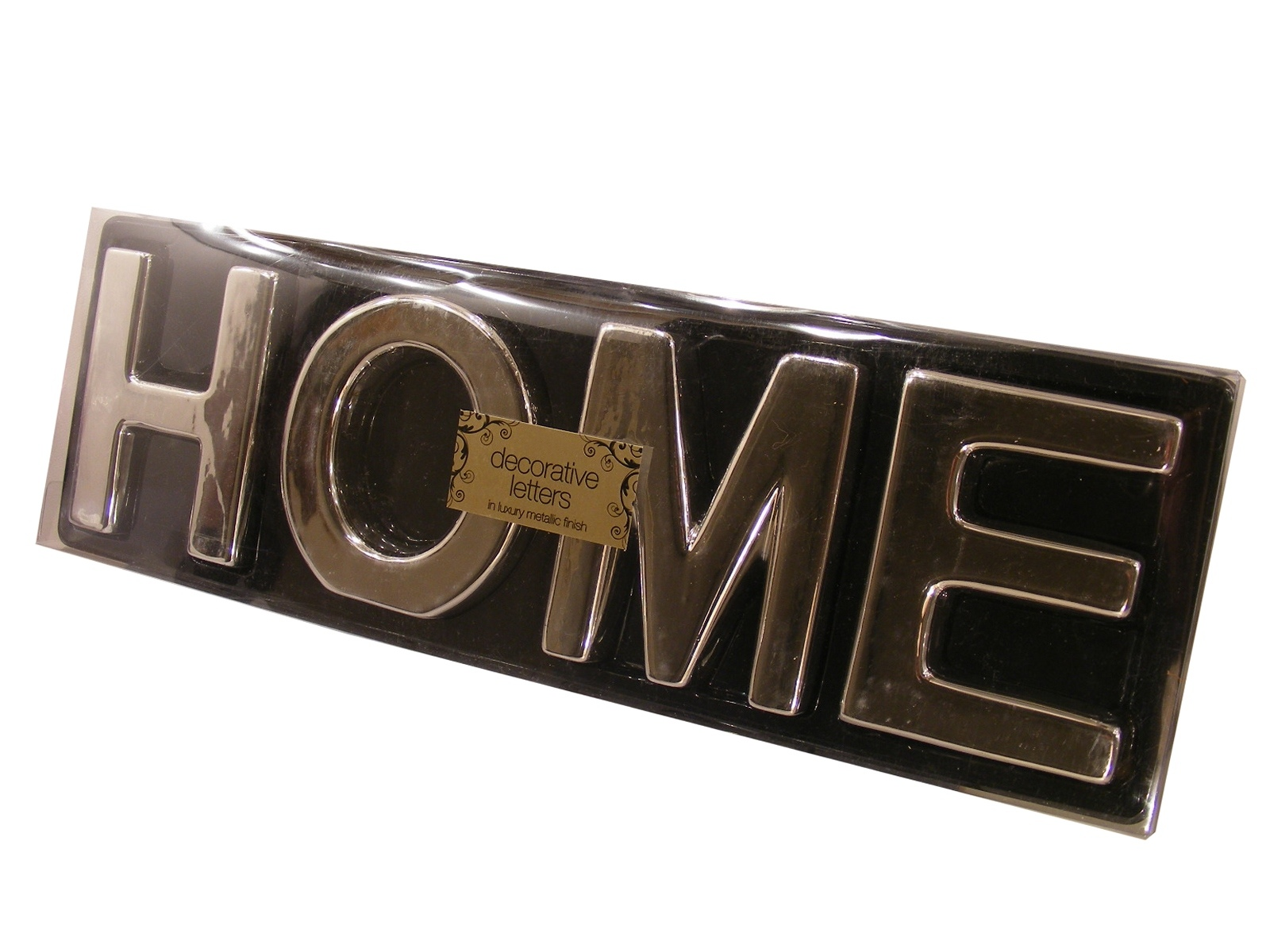 bn metallic finish decorative letters home