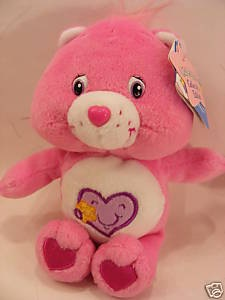 "BNWT COL EDT 8"" TAKE CARE CAREBEARS BEANIE CARE BEARS"
