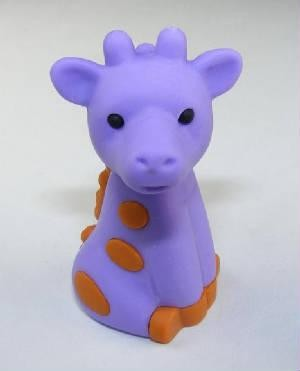 IWAKO NOVELTY ERASERS / RUBBERS -PURPLE GIRAFFE