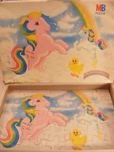 VINTAGE MY LITTLE PONY CHILD'S JIGSAW 80S MLP