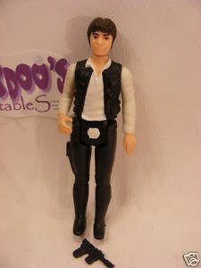 vintage star wars big head han solo figure with weapon