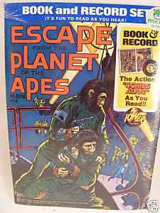 1970S ESCAPE FROM THE PLANET OF THE APES BOOK & RECORD