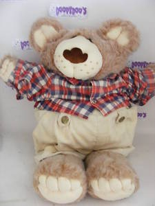 "VINTAGE 20"" FURSKIN BOY 80S FURSKINS CABBAGE PATCH BEAR"